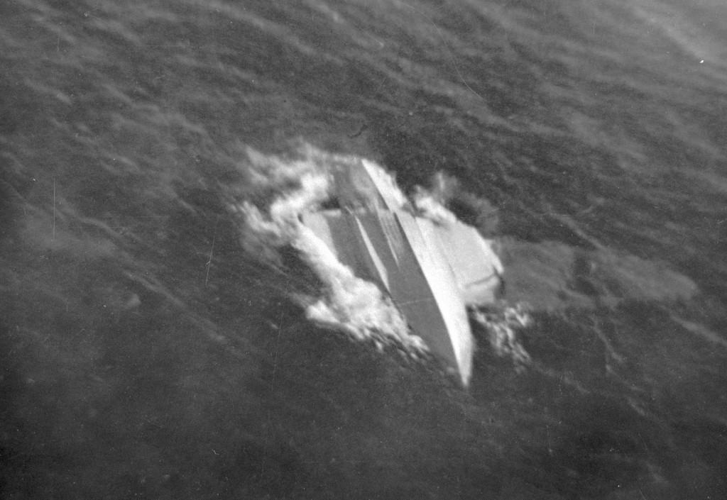Neergeschoten door Japanse jagers 25 februari 1942 bij Noordwachter in de Javazee