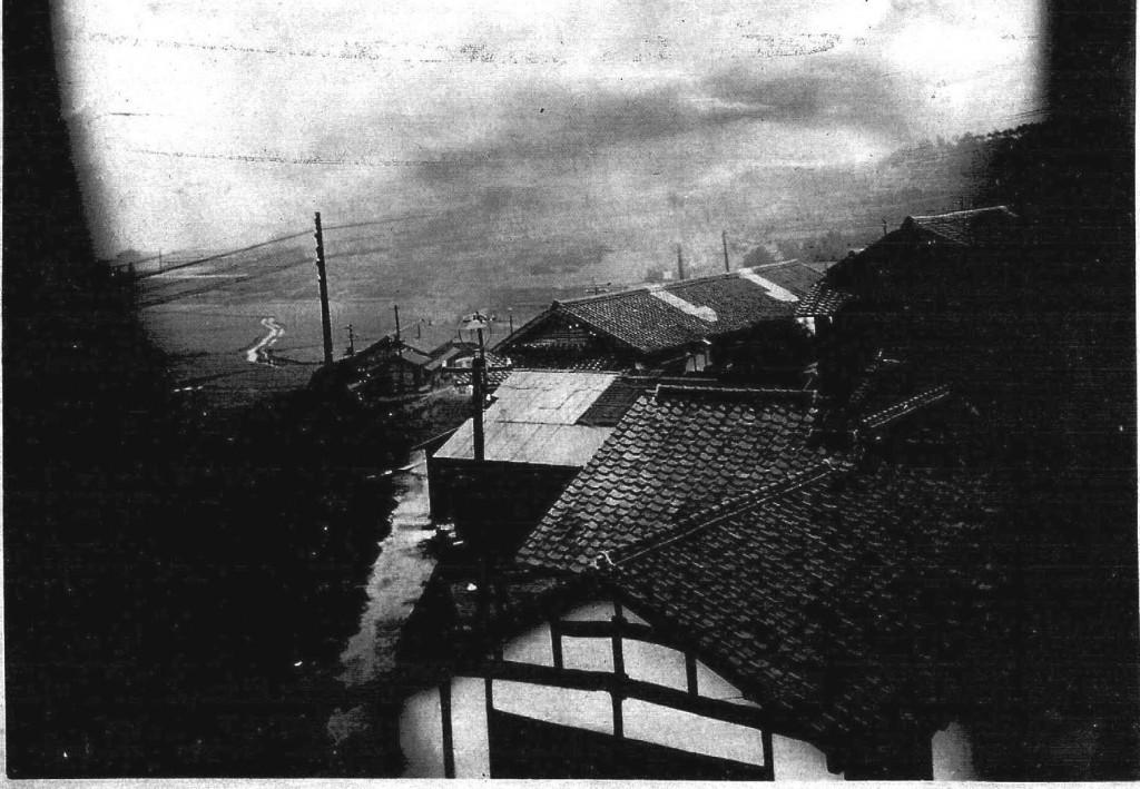 Birds eye view taken from the guards tower Fukuoka #9 17 sept 1945