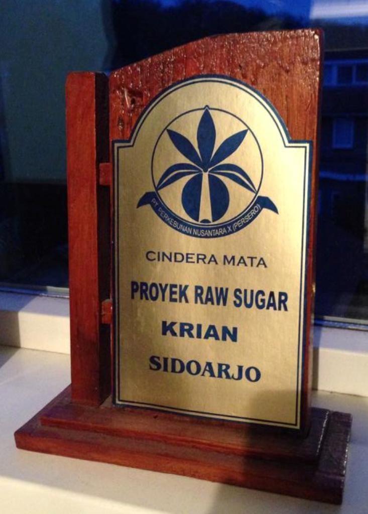 Trofee van de suiker fabriek Krian