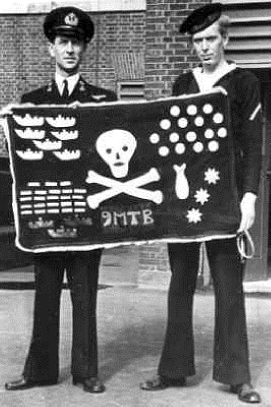 Bloedvlag van MTB-flottielle te Engeland