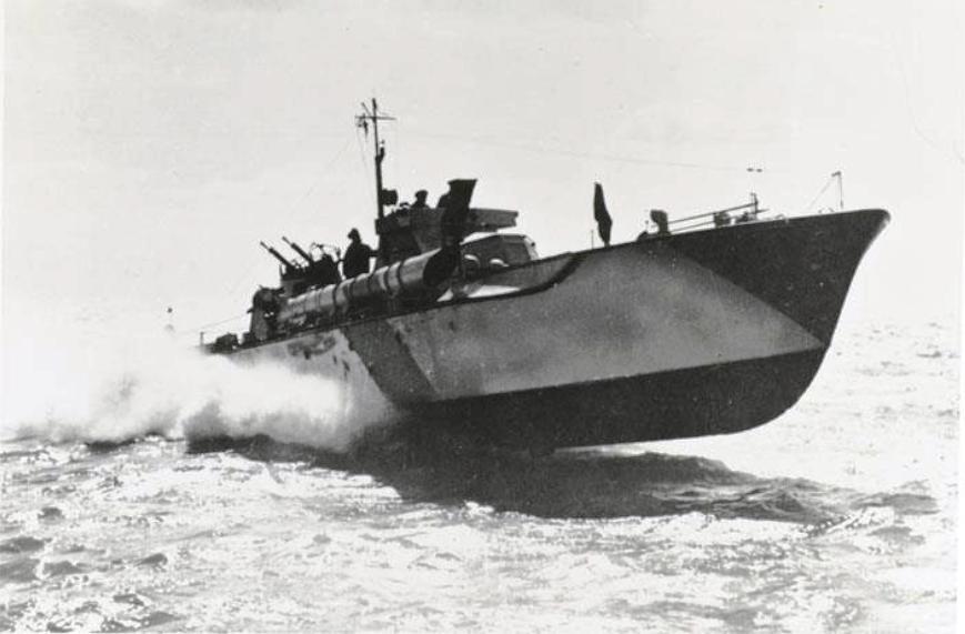De motortorpedoboot 'MTB 202' van het 9th Flottilha te Dover [...]