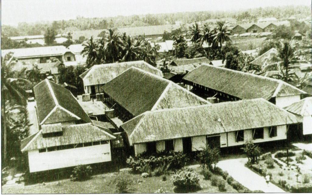 Gevangenis van Bandjersmasin. foto uit 1945 gemaakt vanaf de toren van de R.K.Kerk