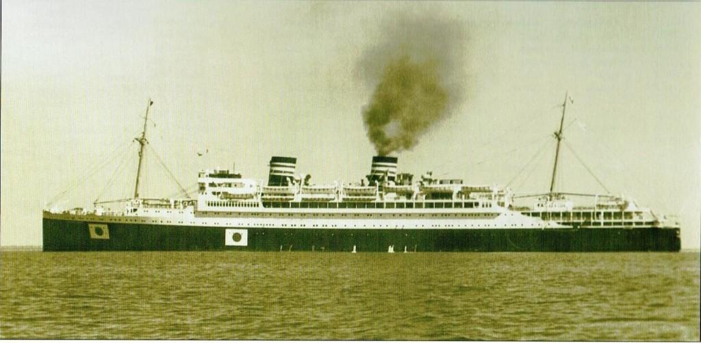 Snelle passagiersschip Asama-Maru