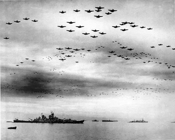 Amerikaanse toestellen boven Japan 1944 / 1945