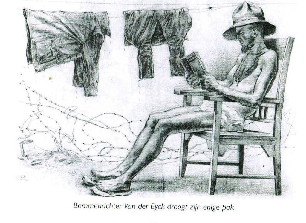 tekening van Charles Burk